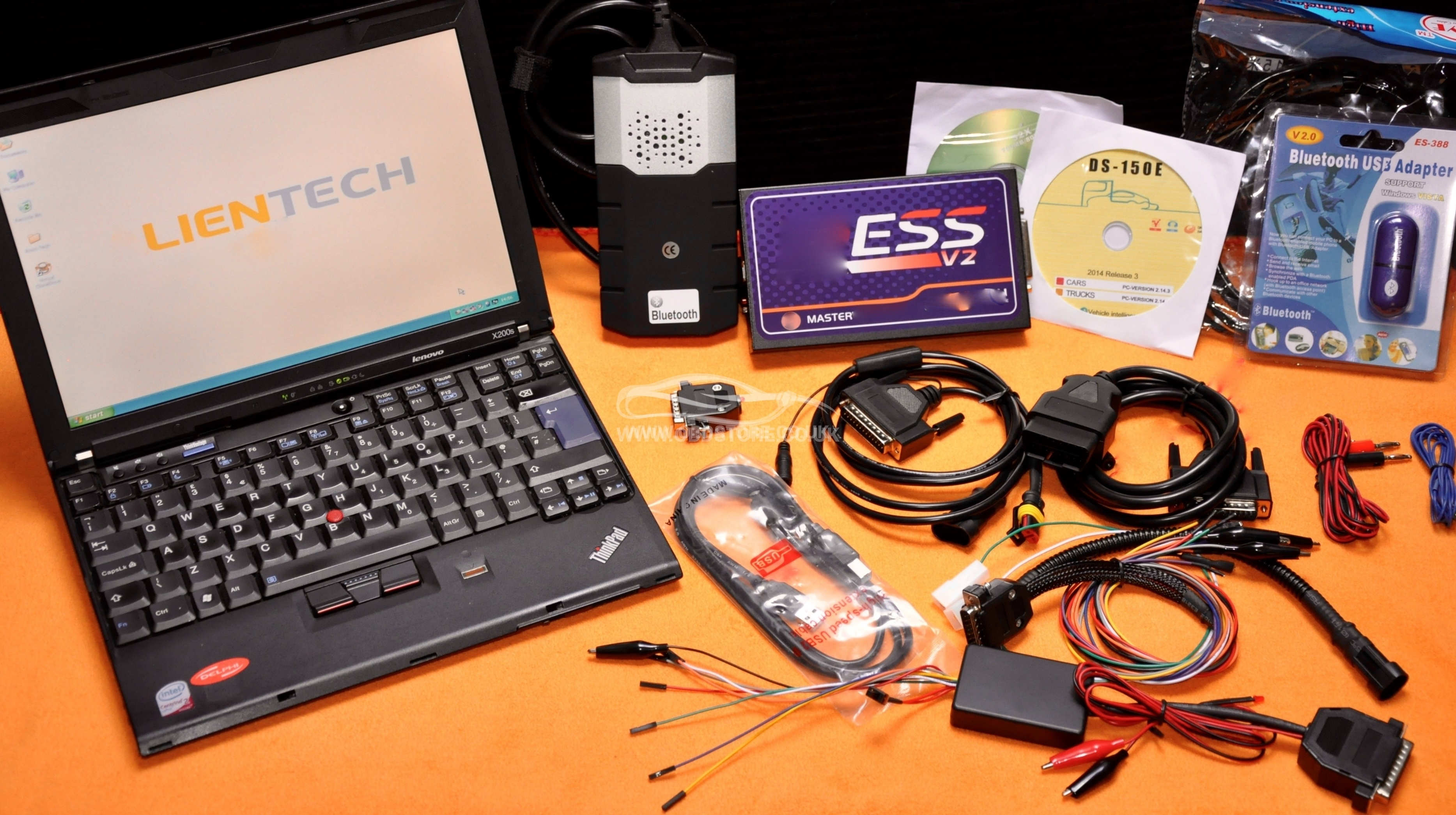 Auto Diagnostic & Remapping Laptop, Ess v2 Master and Multi Brand scanner  D-S150E