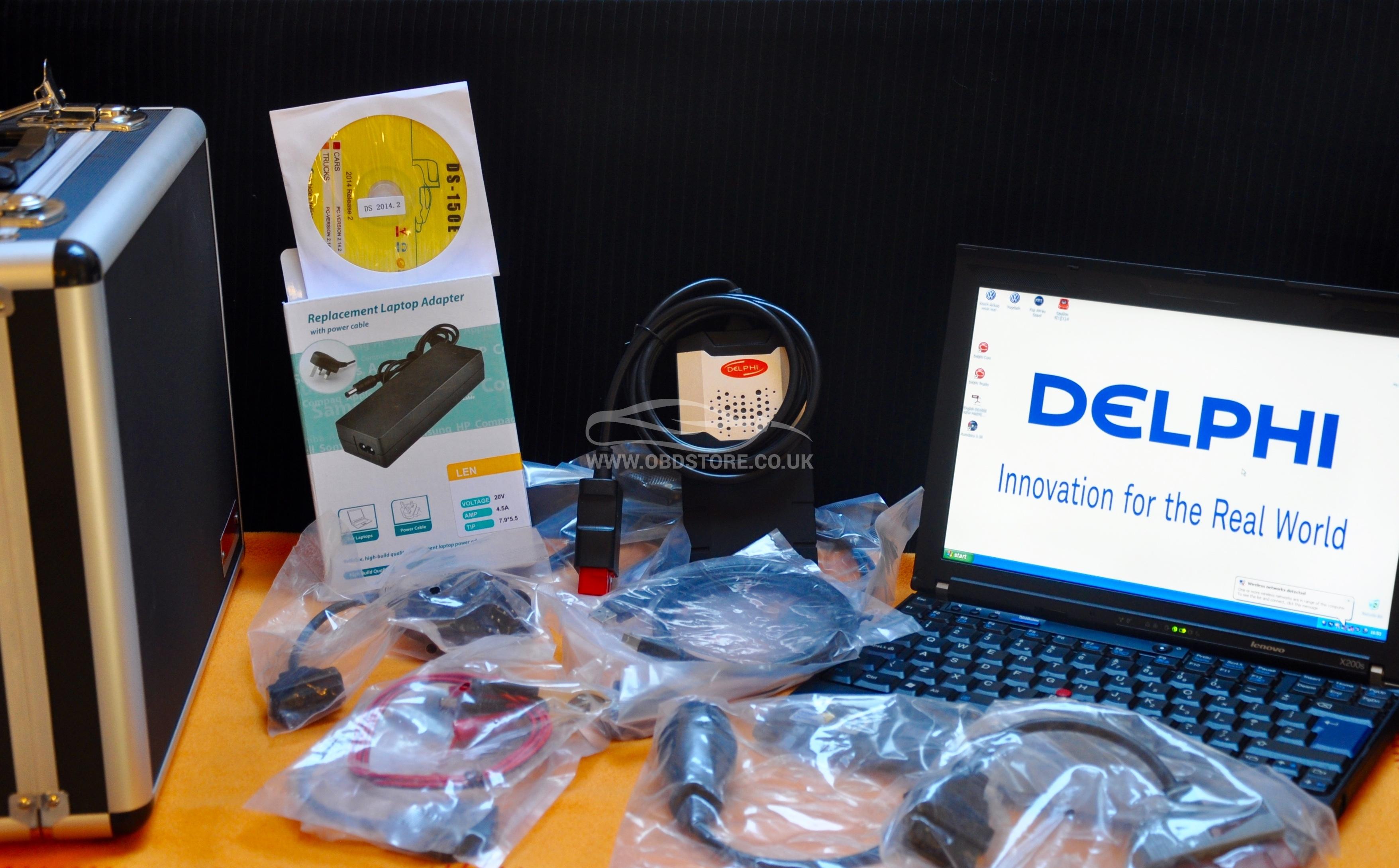 Diagnostics Laptop with Delphi 2015 3 + 8 Car Cables