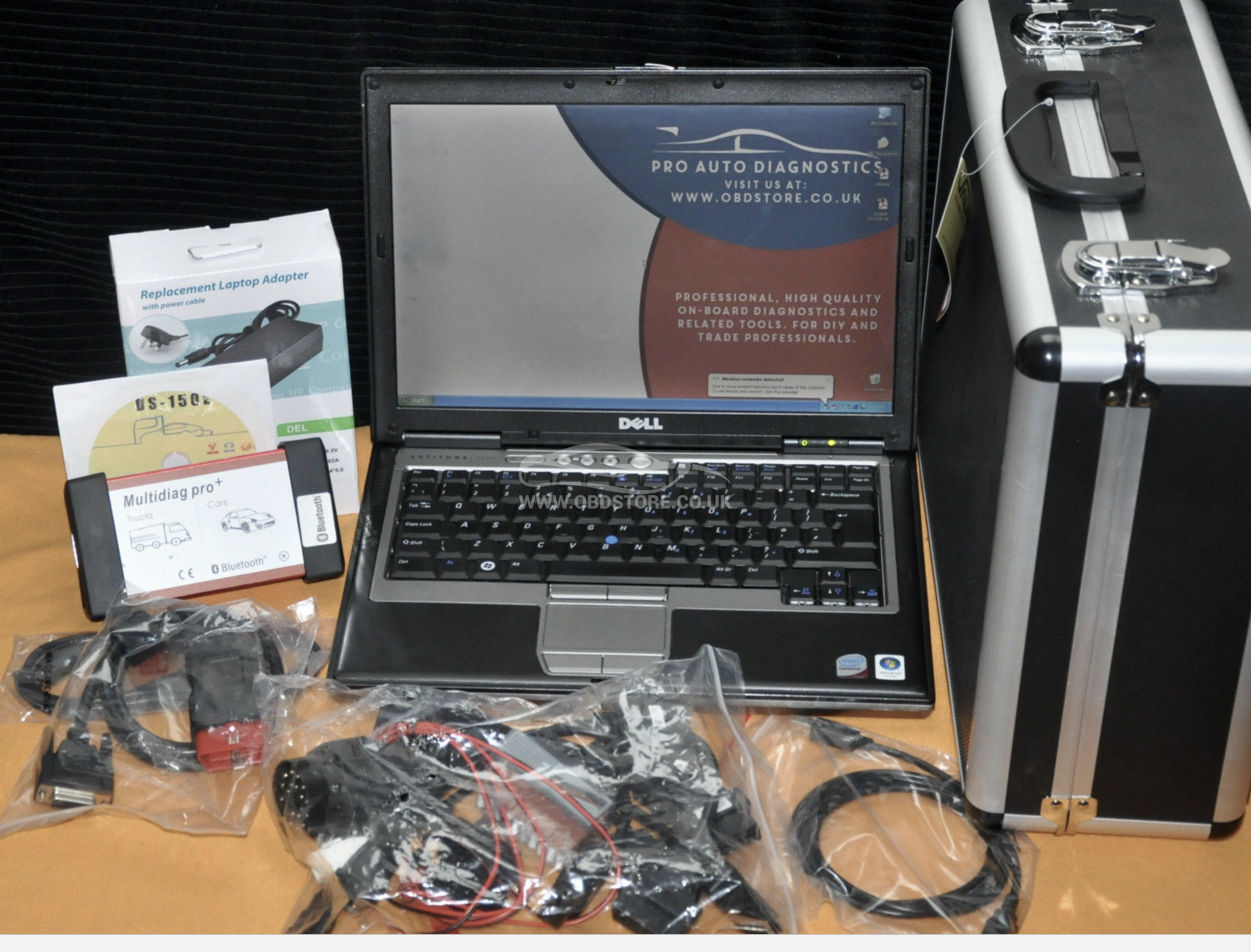 DIAGNOSTICS LAPTOP WITH UNIVERSAL SCANNER 2014 2 + 8 TRUCK CABLES