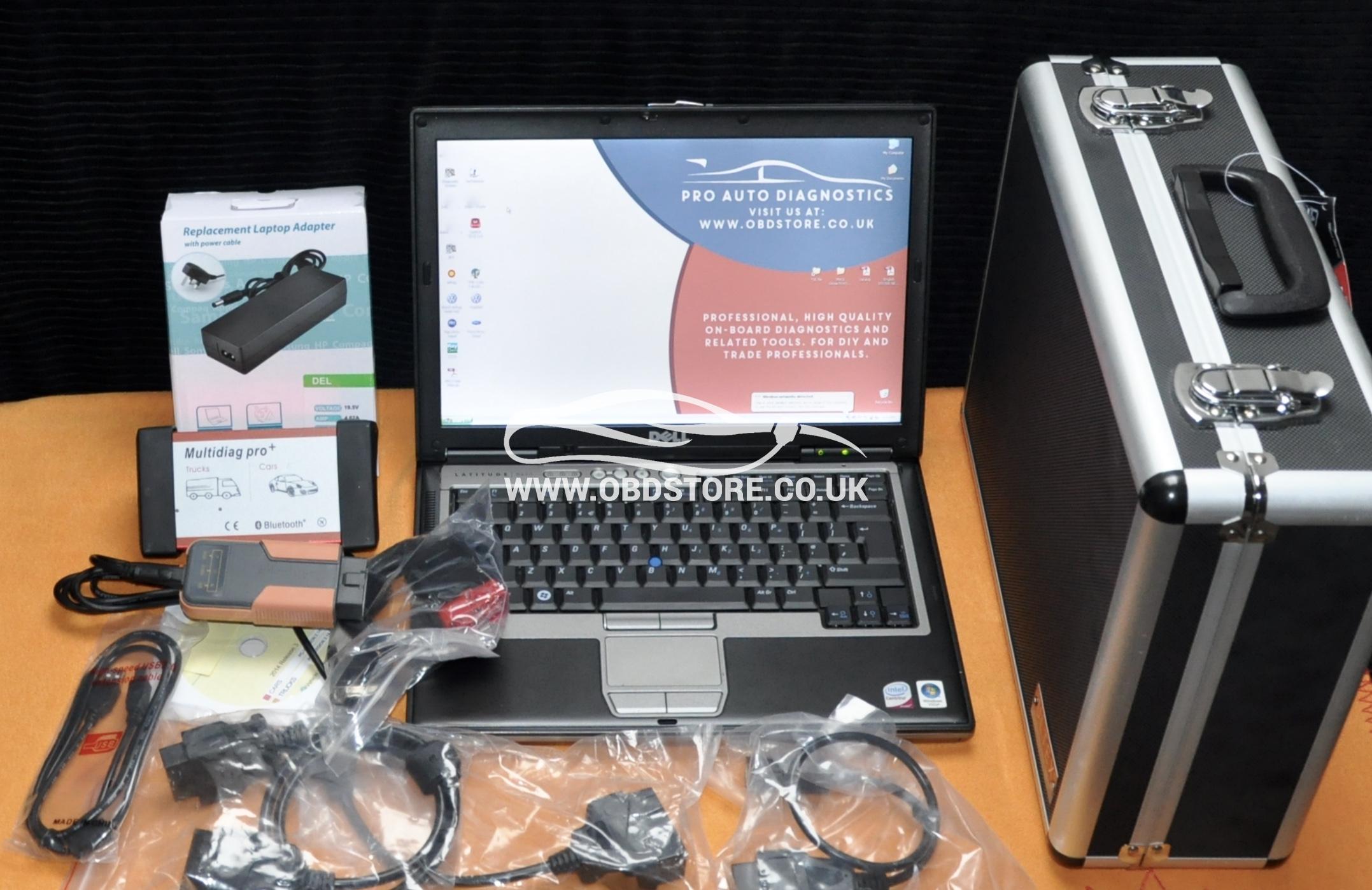 Car Diagnostic laptop kit + MDP, Car Van and Truck + MVCI for Toyota & Honda
