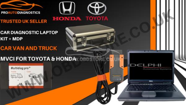 Diagnostic laptop kit + MDP, Car Van and Truck + MVCI for Toyota & Honda