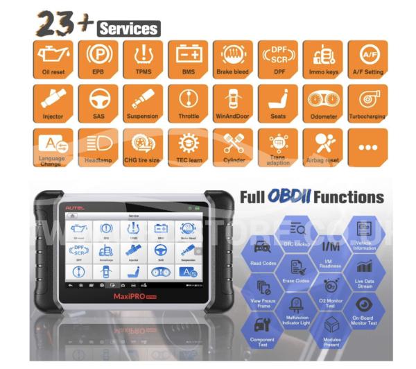 Autel MP808K Diagnostic Scan Tool function list